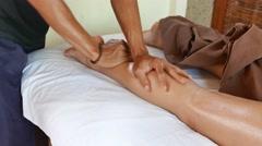 Massage legs close-up Stock Footage