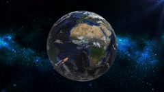 Space Shuttle Orbiting Earth - stock footage