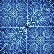 Sacred Ornate Tribal Pattern Stock Illustration
