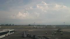 Guadalajara Airport static shot Stock Footage
