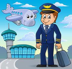 Aviation theme image - eps10 vector illustration. Stock Illustration