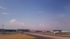 Guadalajara Airport moving shot Stock Footage