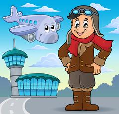 Aviation theme image - eps10 vector illustration. Stock Illustration