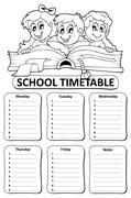 Black and white school timetable theme - eps10 vector illustration. Piirros