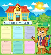 Weekly school timetable concept - eps10 vector illustration. Stock Illustration