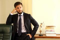 Successful lawyer in his office Stock Photos