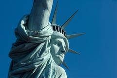 Statue of Liberty, Liberty Island, New York City, New York, USA - stock photo