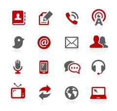 Communications Icons- Redico Series Stock Illustration