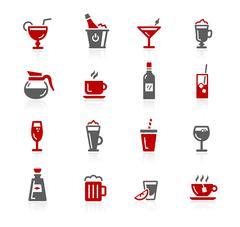 Drinks Icons - Redico Series - stock illustration