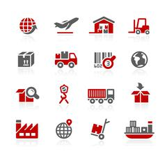 Industry and logistics Icons - Redico Series Stock Illustration