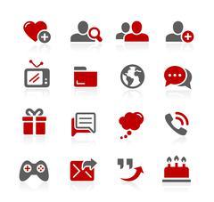 Social Communications - Redico Series Stock Illustration