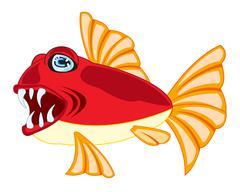 Tropical fish on white - stock illustration