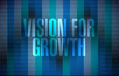 vision for growth binary background - stock illustration