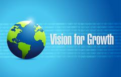 Vision for growth binary global sign business Stock Illustration