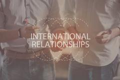 International relationships concept Stock Photos