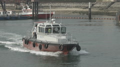 Port Pilot Boat On A Working Day Stock Footage