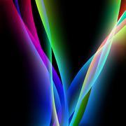 Dinamyc flow, stylized waves, vector Stock Illustration