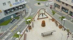 Main Square Plaza Stock Footage