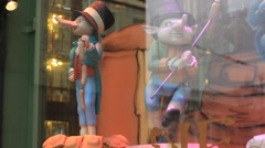 Decorations of shop window Stock Footage