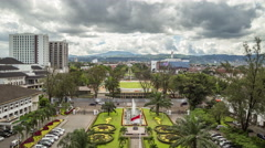 Aerial view the alley of the goverment Bandung city. 4K Timelapse - Bandung - stock footage
