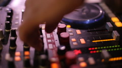 DJ spinning a record at the wedding - stock footage