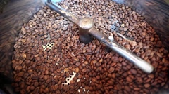 Coffee Machine Roasted Stock Footage