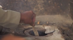 Stove wood or wood-fired oven Stock Footage