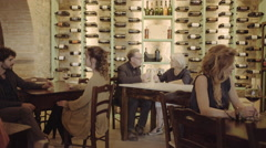 Senior couple on a date Stock Footage