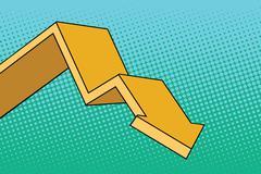 Chart arrow course Stock Illustration