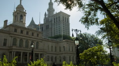 City Hall Building, Manhattan, New York Stock Footage