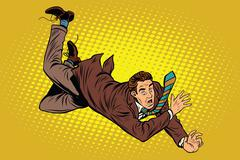 Man falls down from a height - stock illustration