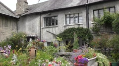 English cottage garden Stock Footage