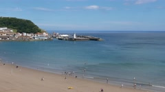 View of Scarborough beach Stock Footage