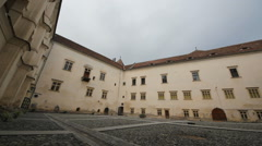 Fortress inner court, surrounding view Stock Footage