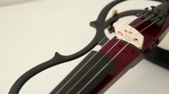 Electric Violin on white background Stock Footage