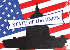Washington State of the Union Stock Illustration