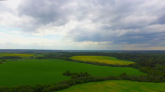 Drone flight over the agriculture fields Stock Footage