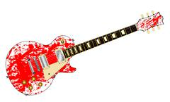 Ink Splatter Guitar Piirros