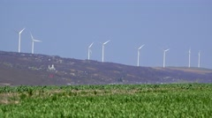 Natural energy of windmills Stock Footage