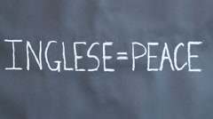 Message of  peace in the world Stock Footage