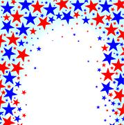 Red White Blue Stars Stock Illustration