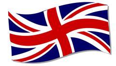 Union Flag Fluttering - stock illustration