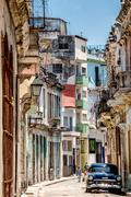 Havana Cuba Narrow Street Stock Photos