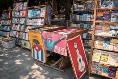 Plaza de Armas Havana Cuba Books Kuvituskuvat