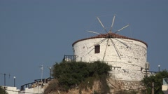 Traditional greek windmill Stock Footage