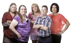 Skeptical or Angry Group of Transgender People Stock Photos