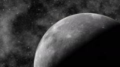 Moon revolves Stock Footage