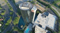 4k Aerial Drone Footage of a Hotel in Memphis Stock Footage
