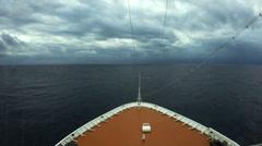 Cruise ship entering Cyclone Nilofar in the Arabian Sea Stock Footage