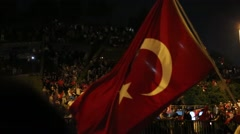 People in meeting with Turkish flags Stock Footage